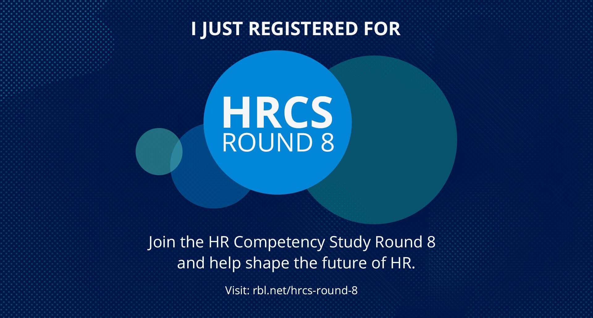 I just registered for HRCS Round 8!